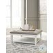 Kanwyn Antique White Upholstered Coffee Table