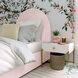 Gumdrop Blush Velvet Twin Panel Bed