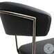 Cosmo Black Steel Adjustable Bar Stool
