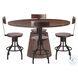 Amici Warm Walnut Adjustable Dining Chair Set of 2