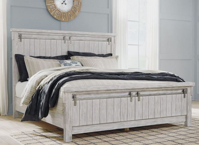 Brashland White Queen Panel Bed From Ashley Furniture Furnitureetc Com B740 57 54 96