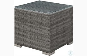 Somani Gray and Ivory End Table