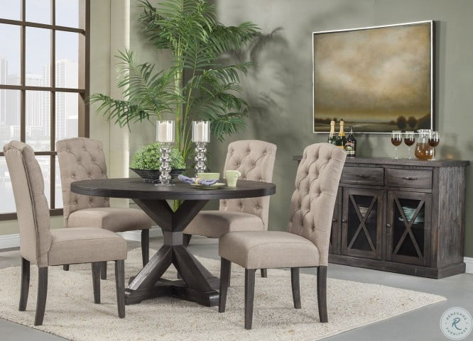 Newberry Grey Round Dining Room Set From Alpine Homegallerystores Com 1468 25