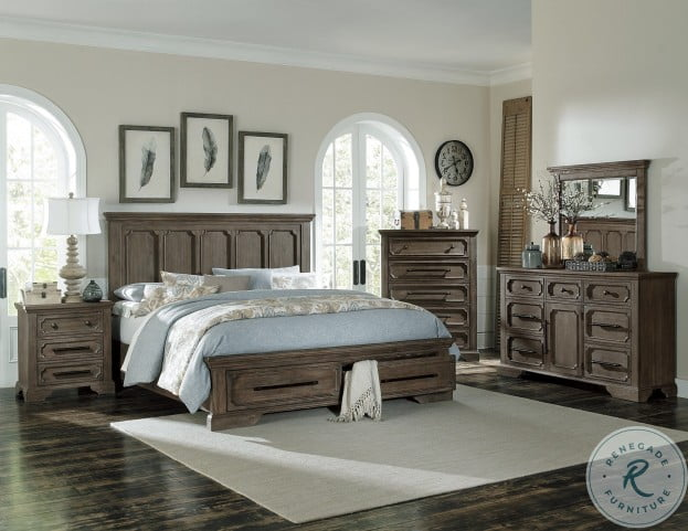 Toulon Unique Rustic Storage Bedroom Set From Homelegance Homegallerystore Com 5438 1