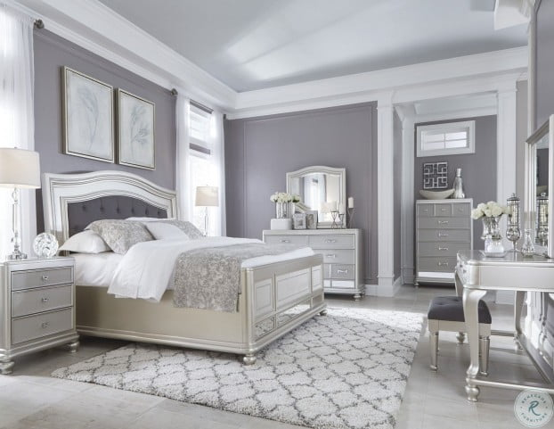 coralayne silver bedroom set from ashley
