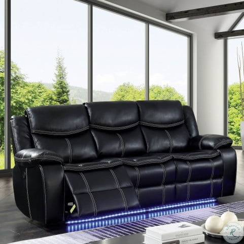 Sirius Black Power Reclining Sofa From Furniture Of America Homegallerystore Com Cm6567 Sf