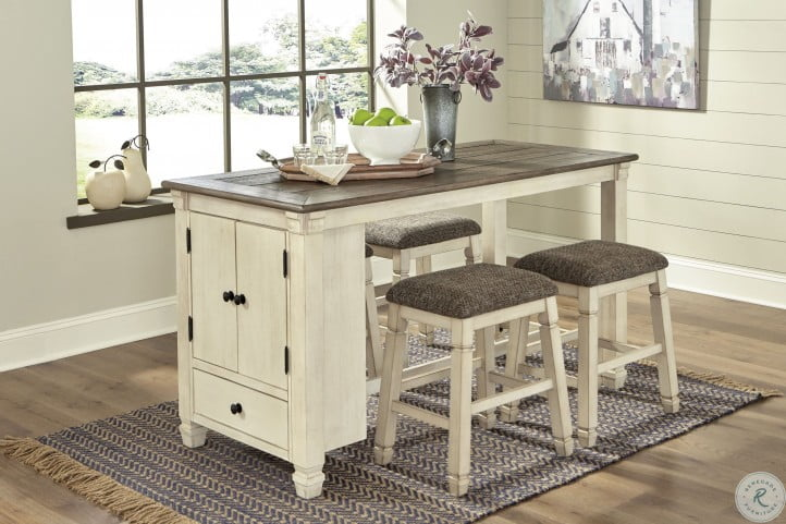 Bolanburg Two Tone Counter Height Dining Room Set From Ashley Homegallerystores Com D647 42
