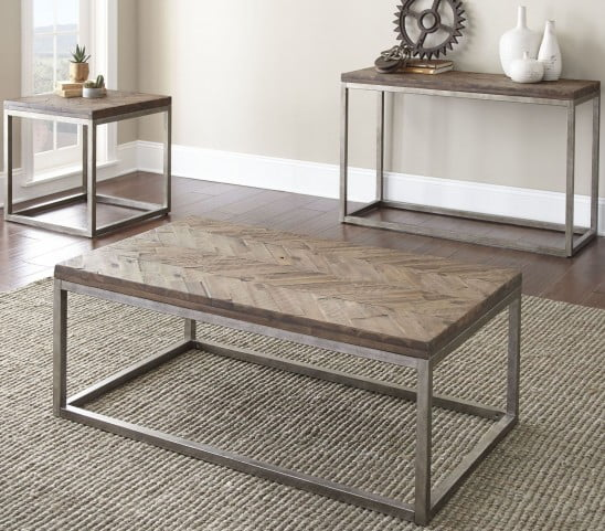Lorenza Distressed Honey End Table From Steve Silver