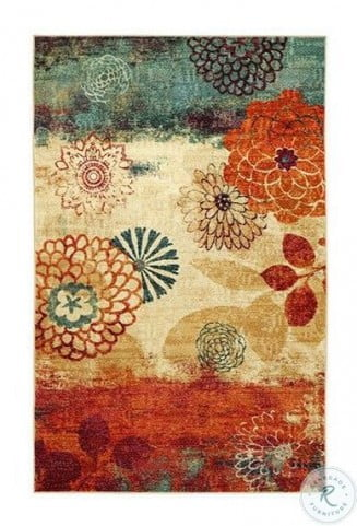 Greenville Blue And Red Small Area Rug From Furniture Of America Coleman Furniture