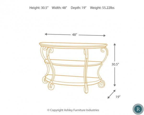 Nestor Sofa Table from Ashley | HomeGalleryStore.com | T517-4