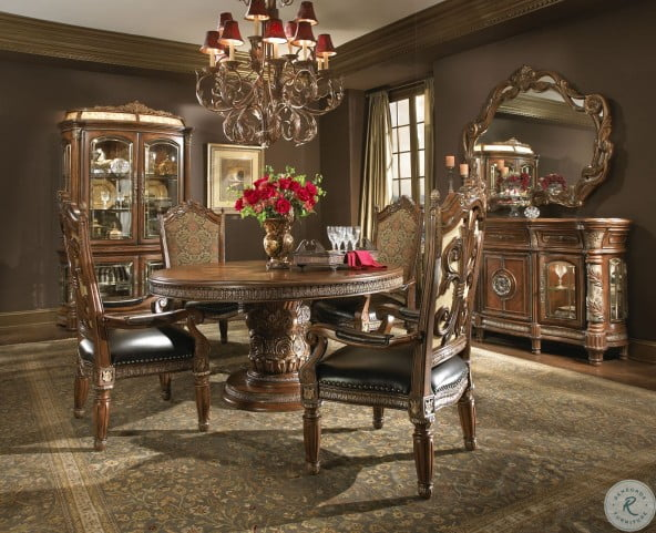 Villa Valencia Round Extendable Dining Table From Aico Homegallerystore Com 72001 55