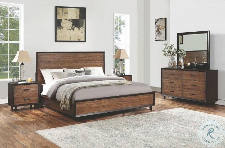 Alpine Walnut And Rustic Panel Bedroom Set From Flexsteel Coleman Furniture