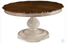 Belmar Antique Linen Round Extendable Dining Table