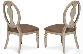 Belmar Antique Linen Oval Splat Back Side Chair Set of 2