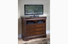 Sheridan Burnished Cherry Media Chest