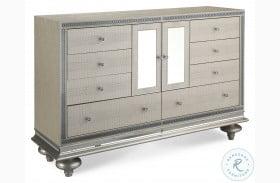 Hollywood Swank Crystal Croc Upholstered Dresser