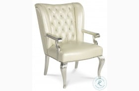 Hollywood Swank Creamy Pearl Desk Chair