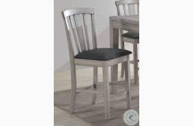 Summer Winds White And Gray Fan Back Counter Height Stool Set Of 2