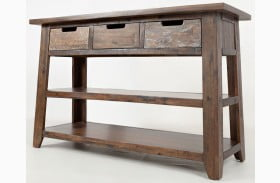 Painted Canyon Brown Sofa Table