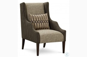 Harper Hickory Veneers Wing Chair