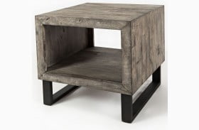Mulholland Drive Distressed Gray End Table