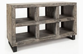 Mulholland Drive Distressed Gray Sofa Table