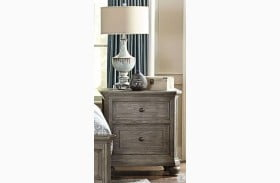 Lavonia Wire Brushed Gray Nightstand
