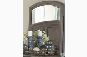 Lavonia Wire Brushed Gray Mirror