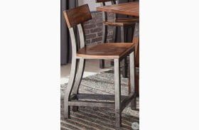 Holverson Brown Milk Crate Counter Height Chair Set of 2