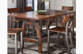Holverson Brown Milk Crate Counter Height Dining Table
