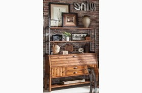 Holverson Brown Milk Crate Buffet with Hutch