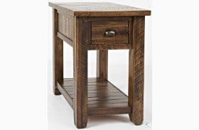 Artisans Craft Dakota Oak Chairside Table