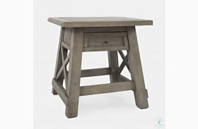 Outer Banks Driftwood Power End Table