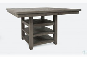 Outer Banks Driftwood Square Adjustable Extendable Storage Dining Table