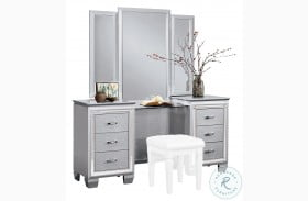 Allura Silver Vanity with Mirror