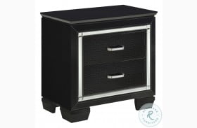 Allura Black Nightstand