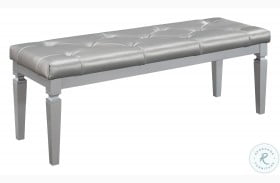 Allura Silver Bed Bench