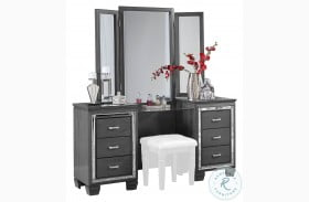 Allura Gray Vanity with Mirror