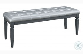 Allura Gray Bed Bench