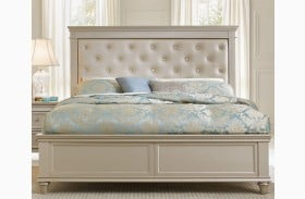 Celandine Silver Panel Bed
