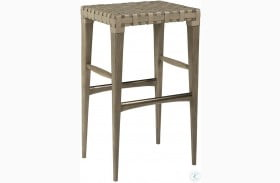 Milo Leather Backless Bar Stool