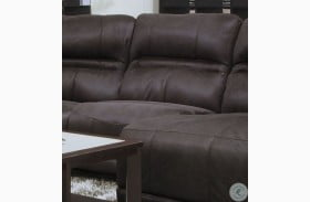 Braxton Dark Chocolate Armless Chair