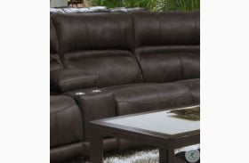 Braxton Dark Chocolate Lay Flat Armless Recliner