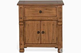 Sedona Rustic Oak Nightstand