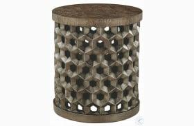 Geode Warm Kona Tanzanite Drum Table