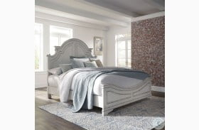 Magnolia Manor Antique White Queen Panel Bed