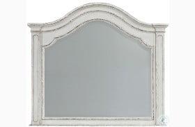 Magnolia Manor Antique White Arched Mirror
