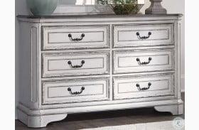 Magnolia Manor Antique White 6 Drawer Dresser