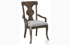 Landmark Russet Splat Back Arm Chair Set Of 2