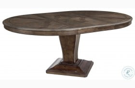 Landmark Russet Extendable Round Dining Table